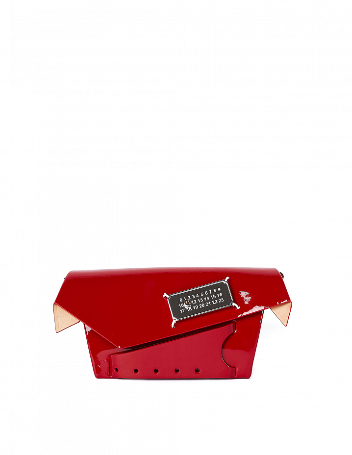 Red Patent Leather Snatched Bag Maison Margiela