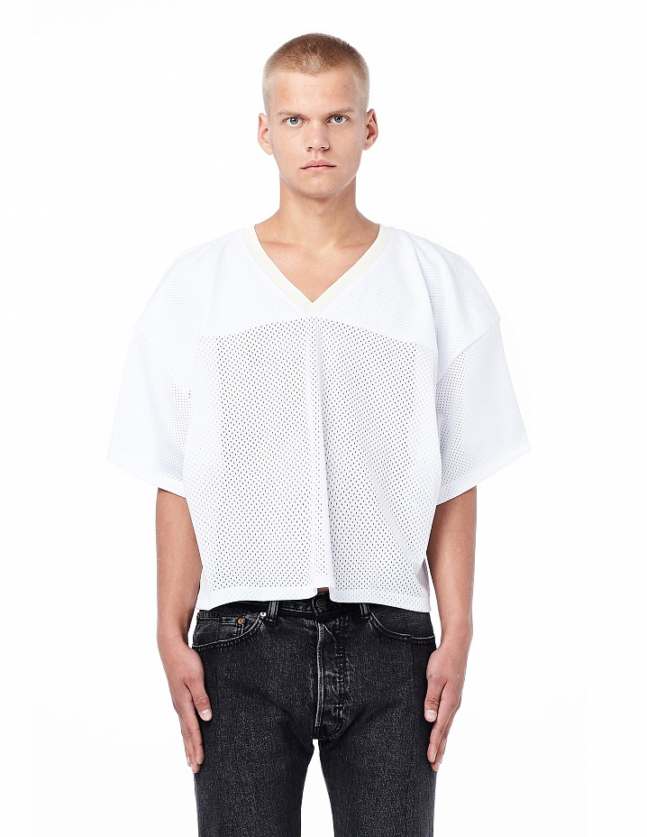 White mesh football jersey Fear of God