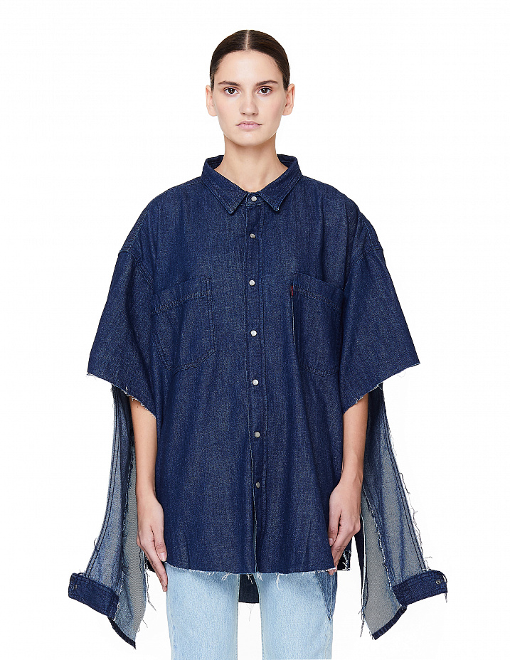 Oversized Denim Cut-out Shirt Vetements