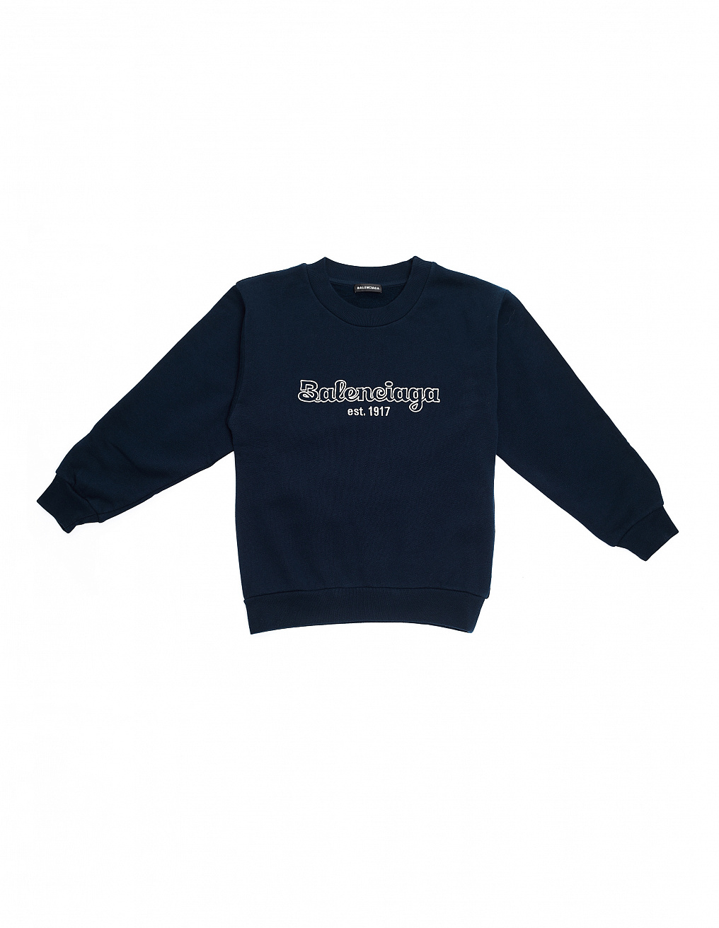 Navy Blue Logo Sweatshirt Balenciaga Kids - buy