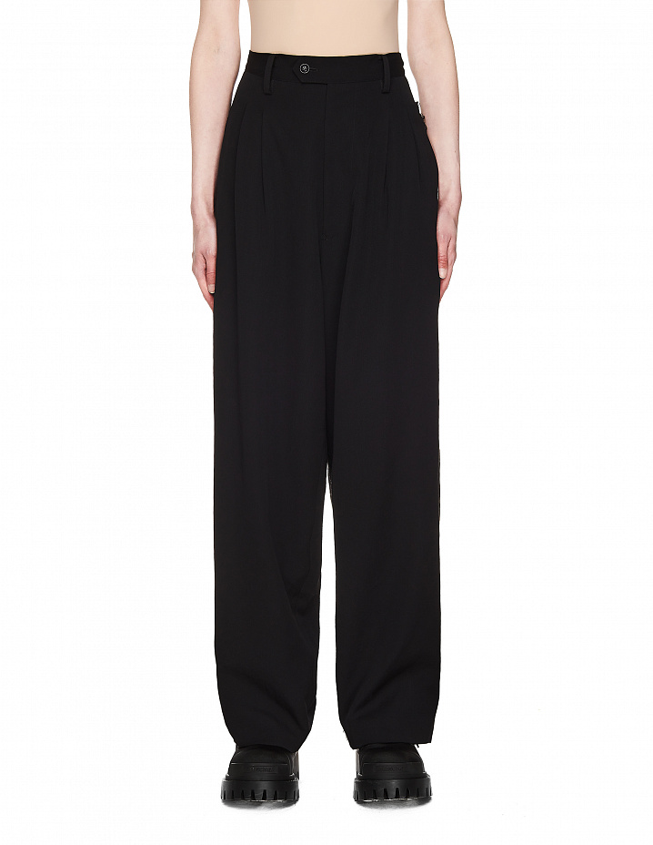 Black Wool Trousers Y's