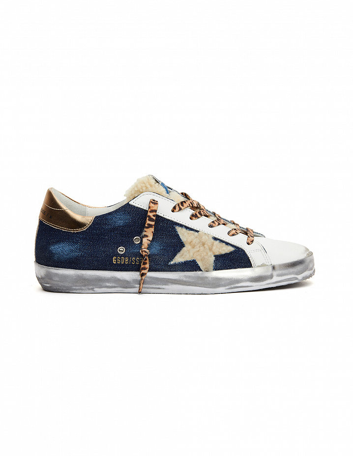 Denim Superstar Sneakers Golden Goose