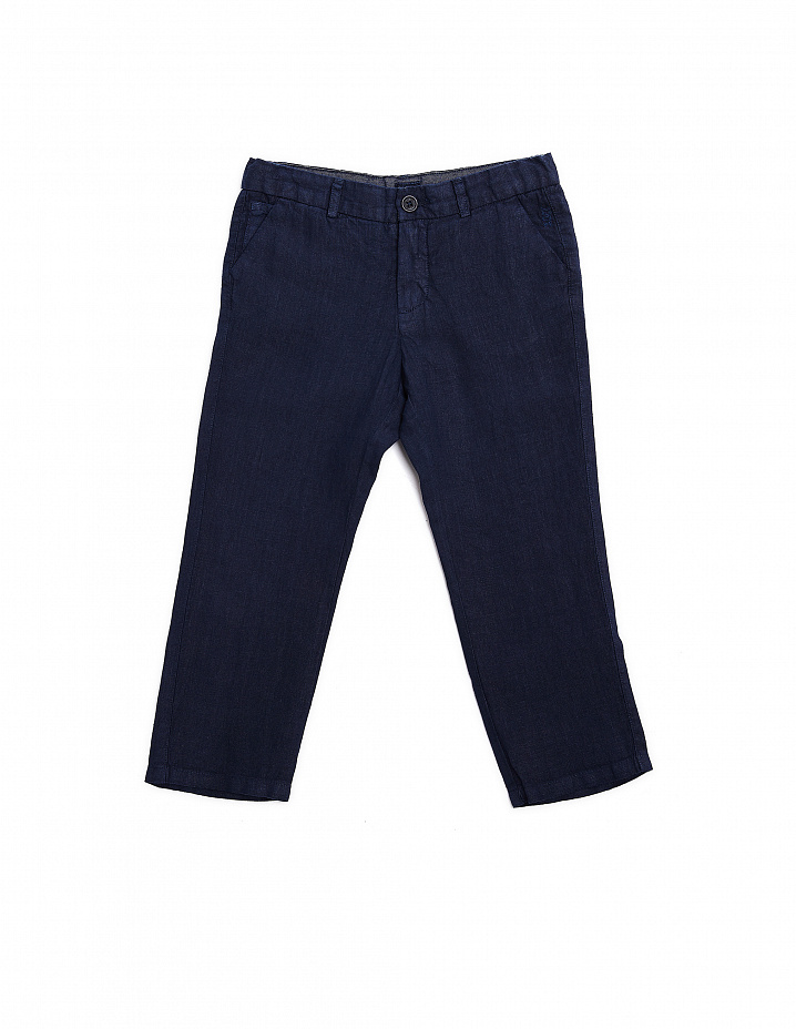 Blue Linen Trousers 120% Lino Kids