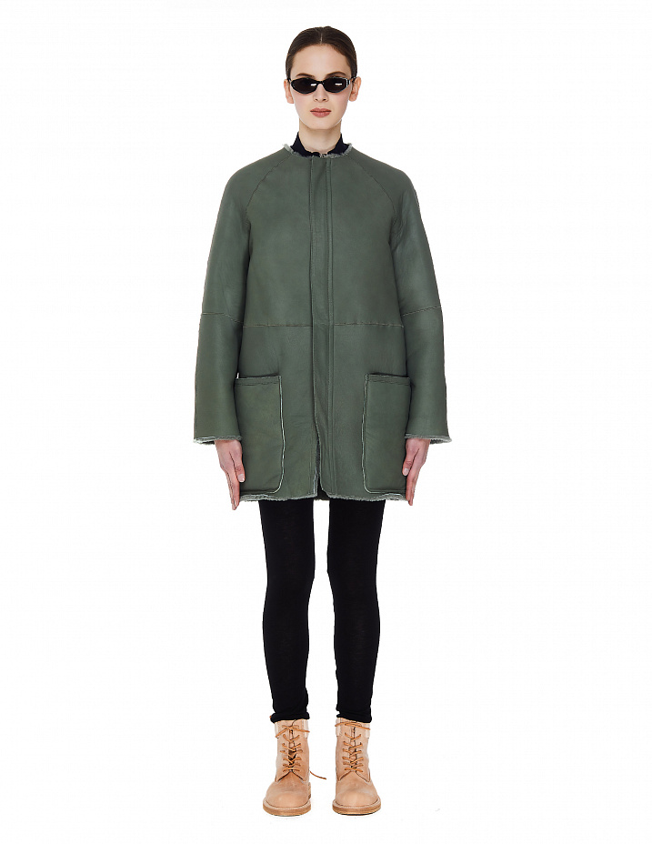 Green Shearling Coat Y's