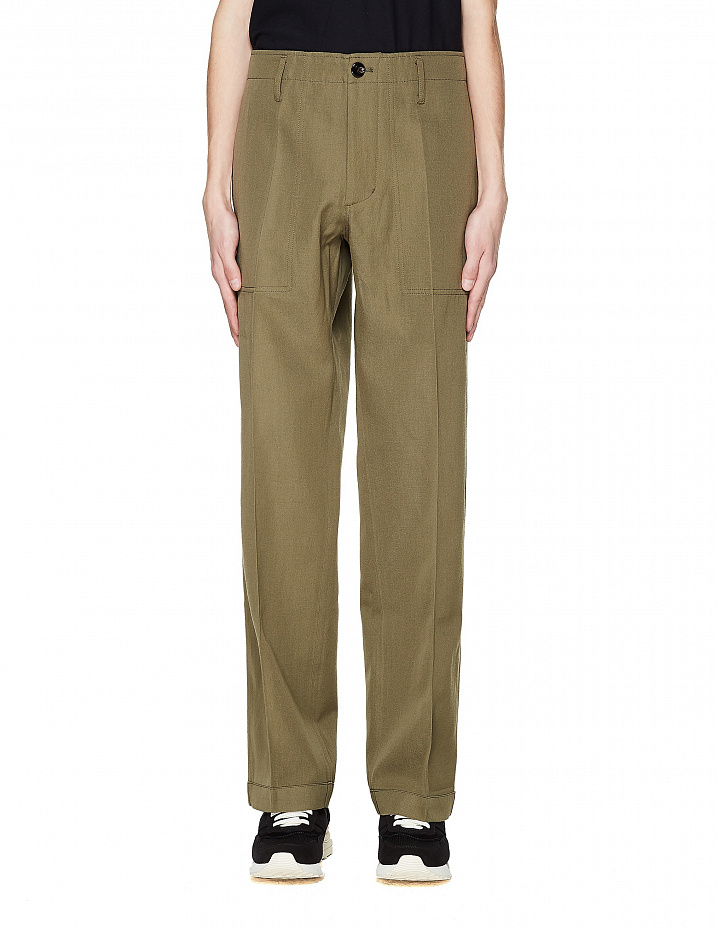 Olive Green Wool Trousers Visvim